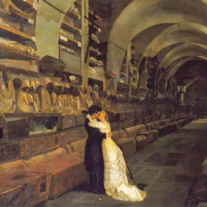 Catacombe dei Capuccini - Love and Death, dipinto di Calcedonio Reina