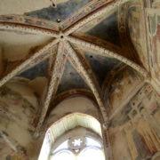 Abside centrale, affreschi XIV sec.