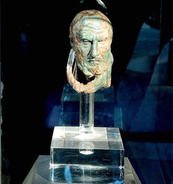 Frammento di busto del filosofo Crisippo